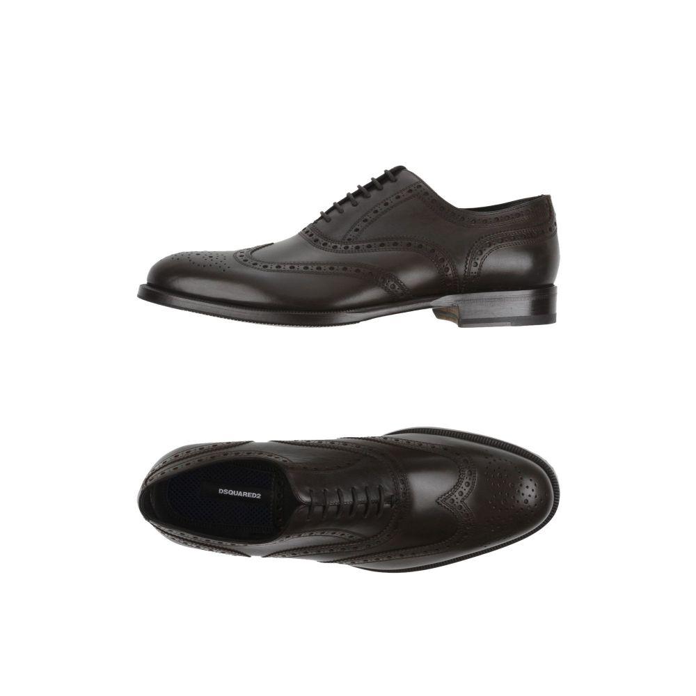 ディースクエアード DSQUARED2 メンズ シューズ・靴 【laced shoes】Dark brown