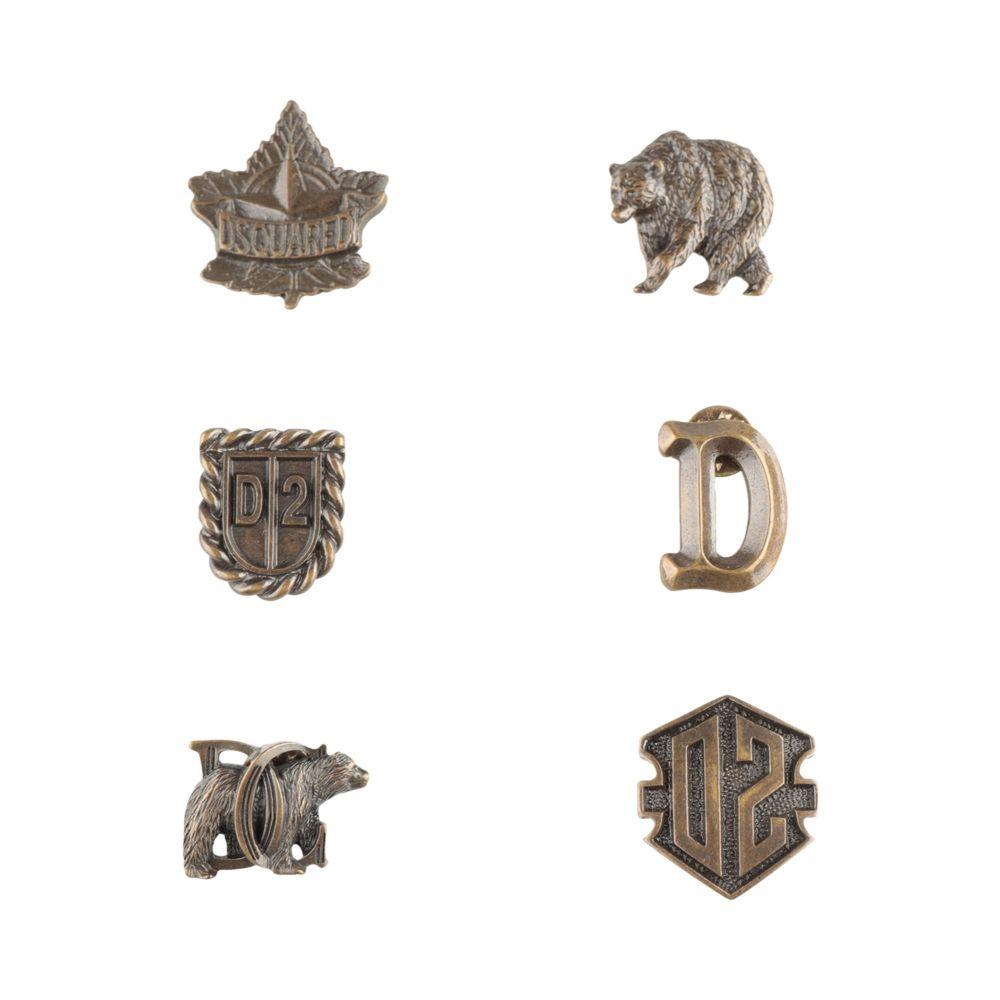ディースクエアード DSQUARED2 メンズ ラペルピン 【brooch】Bronze