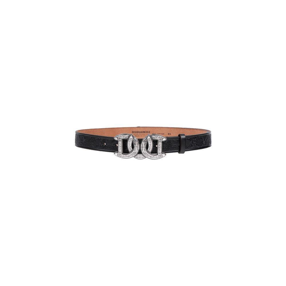 ディースクエアード DSQUARED2 メンズ ベルト 【leather belt】Steel grey