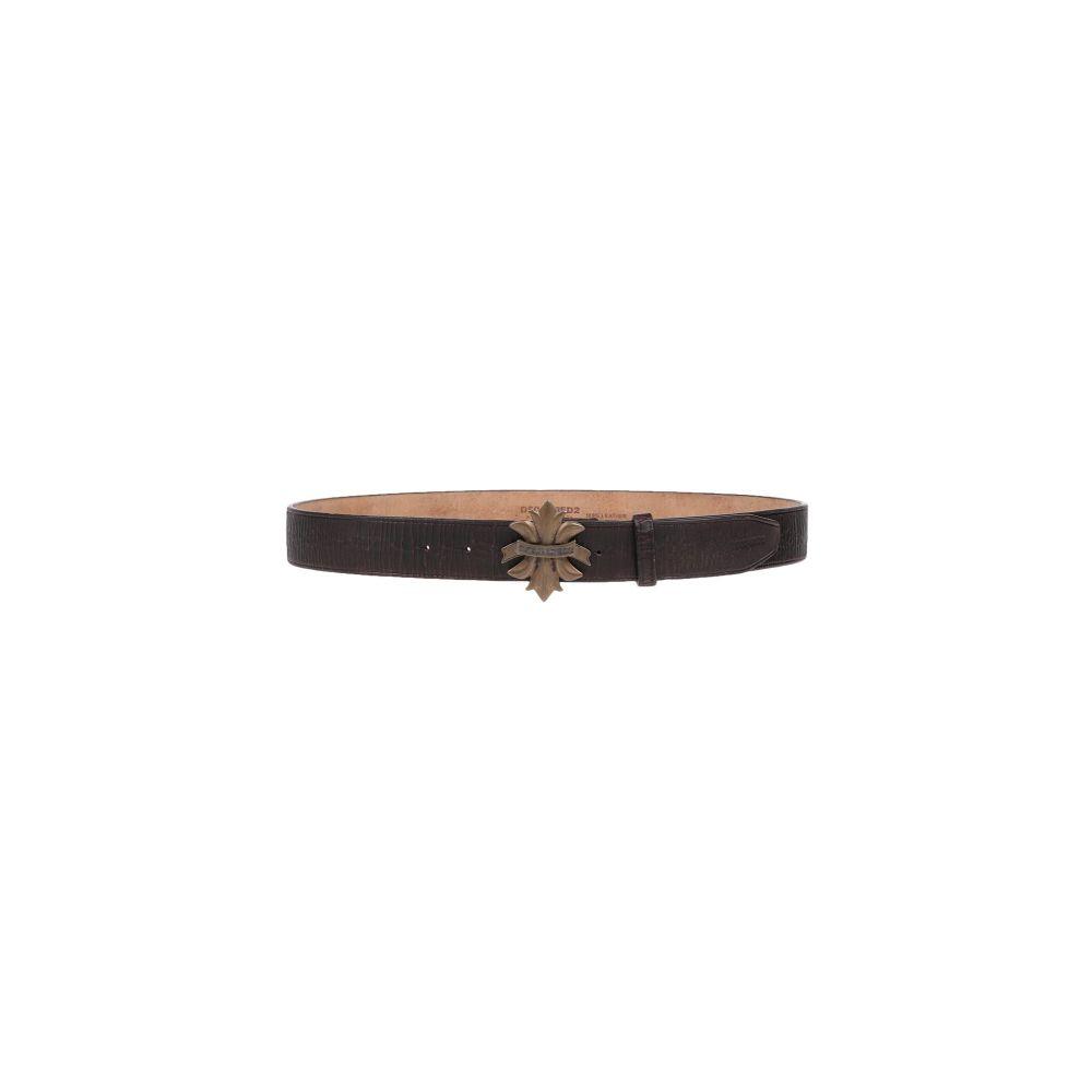 ディースクエアード DSQUARED2 メンズ ベルト 【leather belt】Dark brown