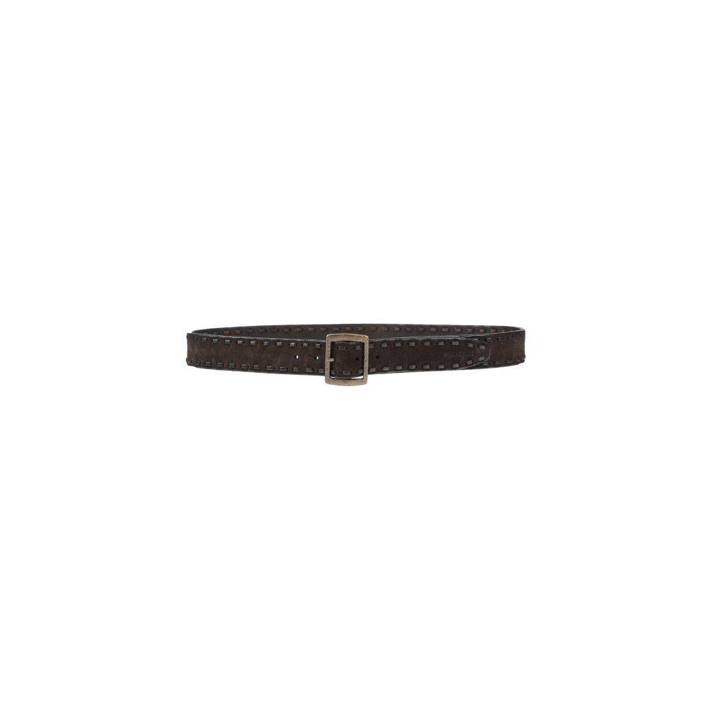 ディースクエアード メンズ ファッション小物 ベルト Dark brown 【サイズ交換無料】 ディースクエアード DSQUARED2 メンズ ベルト 【leather belt】Dark brown