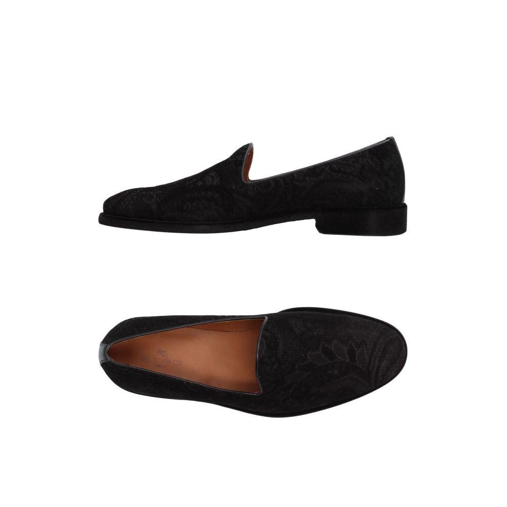 エトロ ETRO メンズ ローファー シューズ・靴【loafers】Black