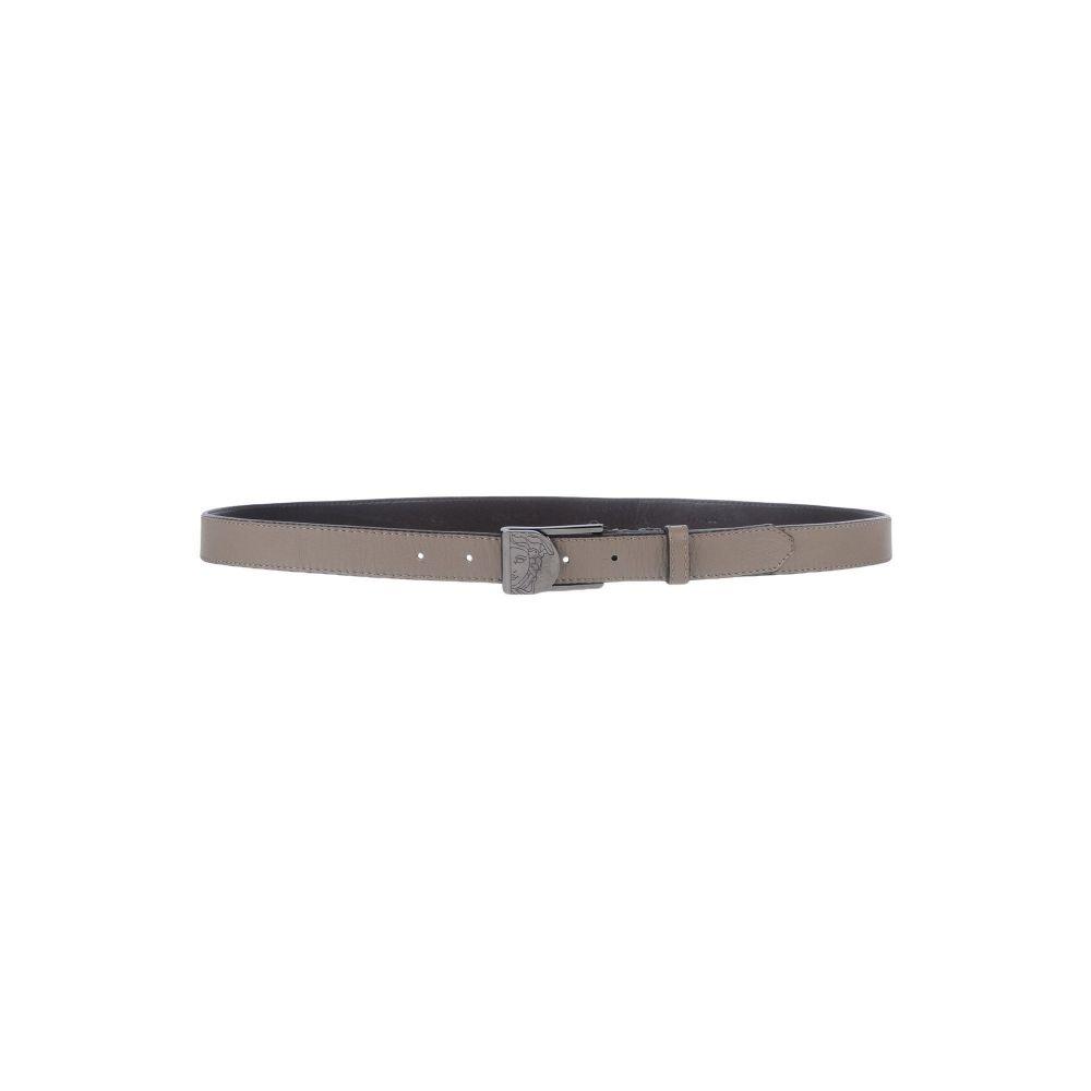 ヴェルサーチ VERSACE COLLECTION メンズ ベルト 【leather belt】Grey