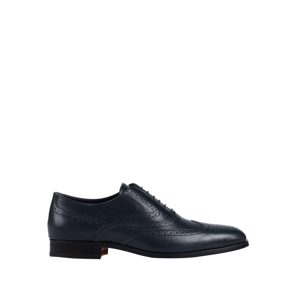 トッズ TOD'S メンズ シューズ・靴 【laced shoes】Dark blue