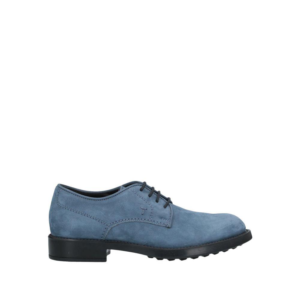 トッズ TOD'S メンズ シューズ・靴 【laced shoes】Slate blue