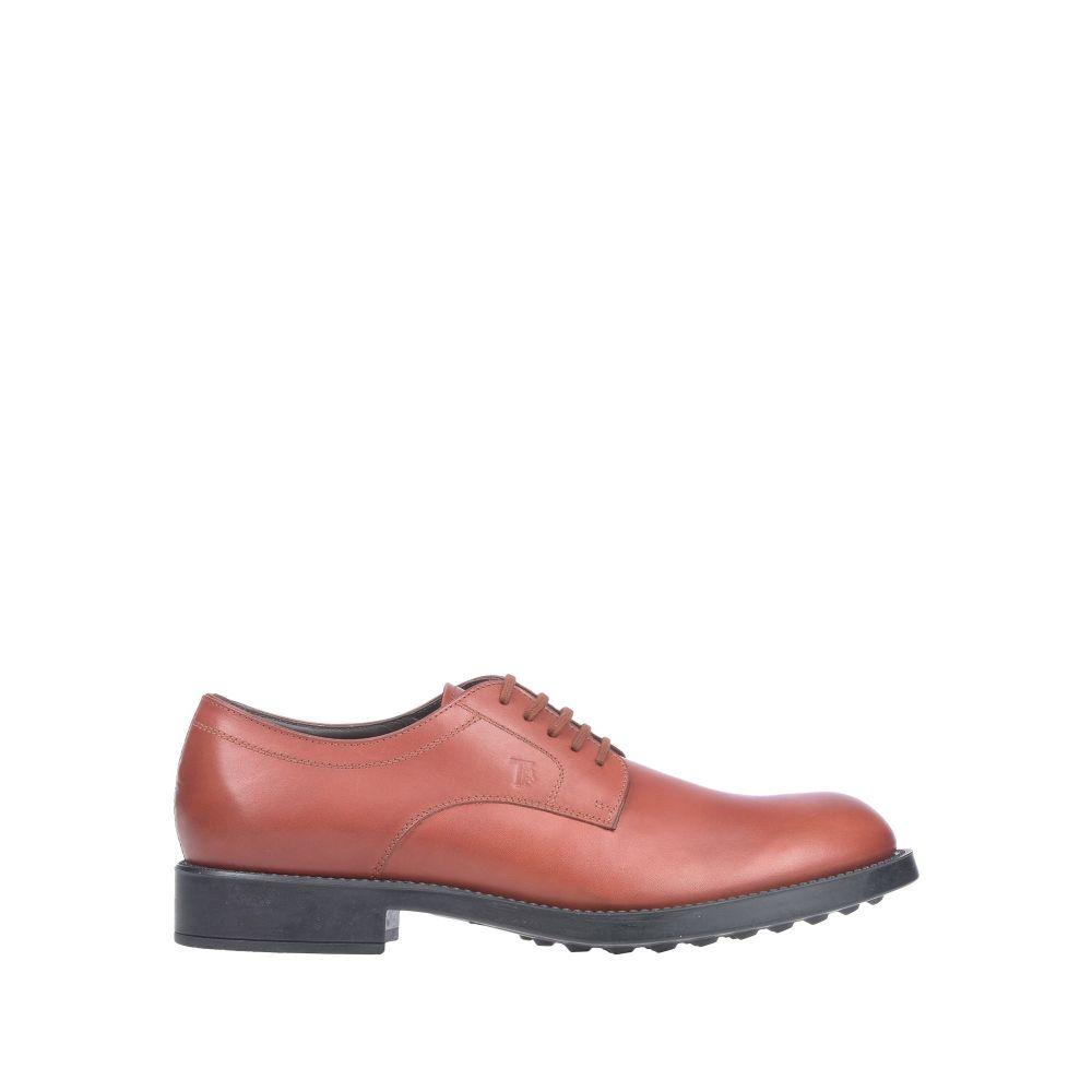 トッズ TOD'S メンズ シューズ・靴 【laced shoes】Brick red