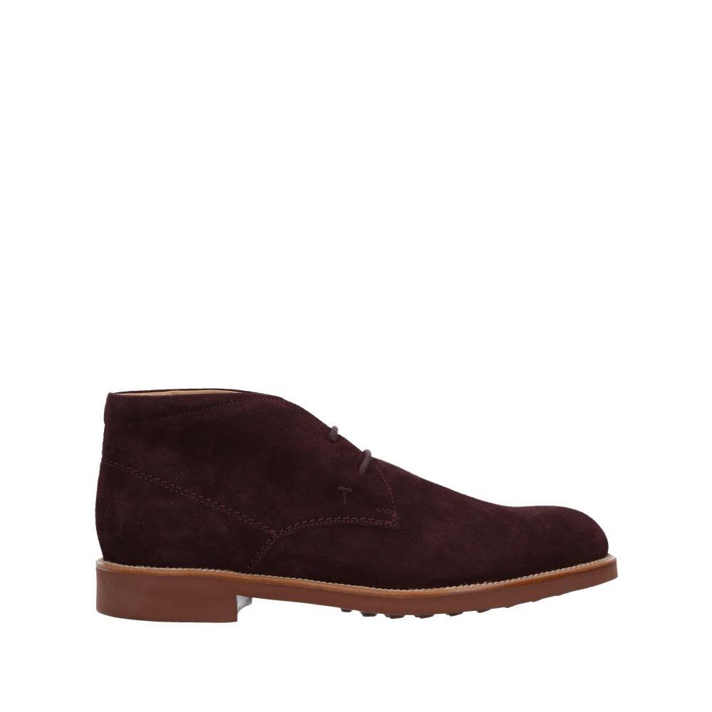 トッズ メンズ シューズ・靴 ブーツ Deep purple 【サイズ交換無料】 トッズ TOD'S メンズ ブーツ シューズ・靴【boots】Deep purple