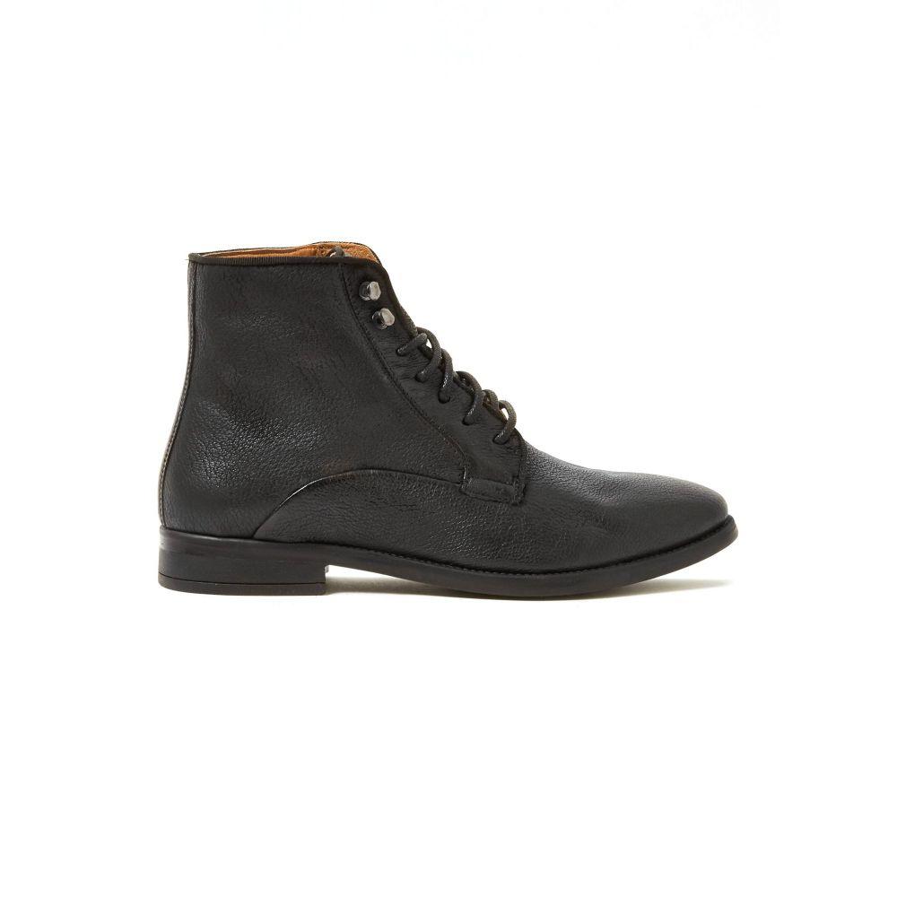 トップマン TOPMAN メンズ ブーツ シューズ・靴【leather rudy boots boots】Black