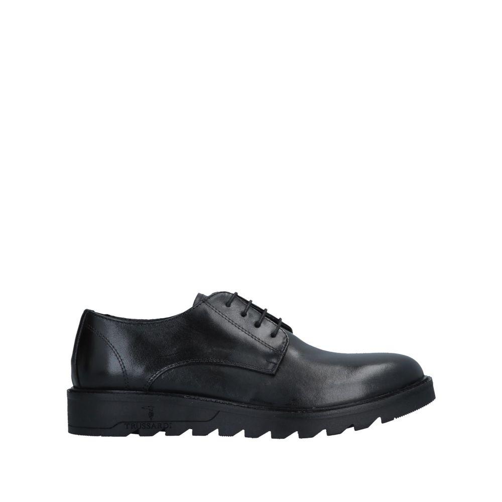トラサルディ TRUSSARDI メンズ シューズ・靴 【laced shoes】Black