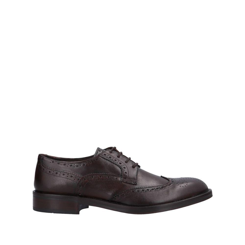 トラサルディ TRUSSARDI メンズ シューズ・靴 【laced shoes】Dark brown