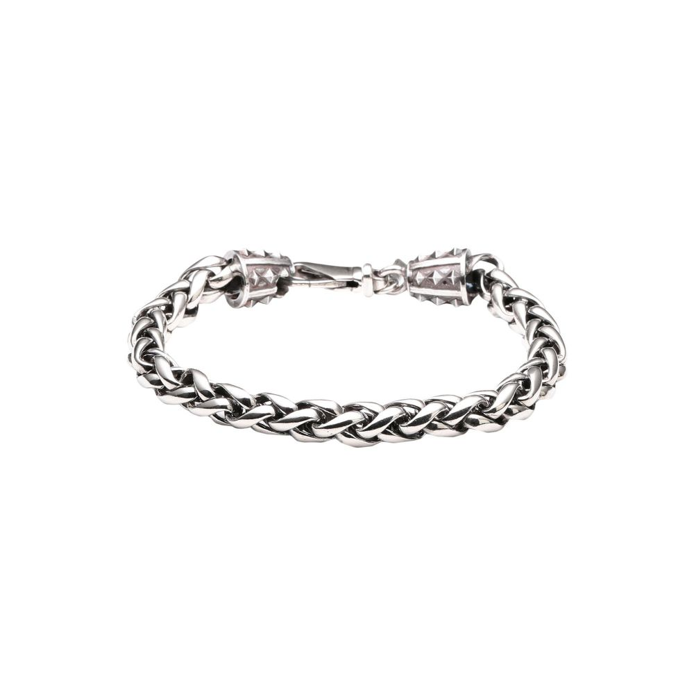 エマニュエレ ビコッキ EMANUELE BICOCCHI メンズ ブレスレット ジュエリー・アクセサリー【espiga chain silver 925 bracelet】Silver