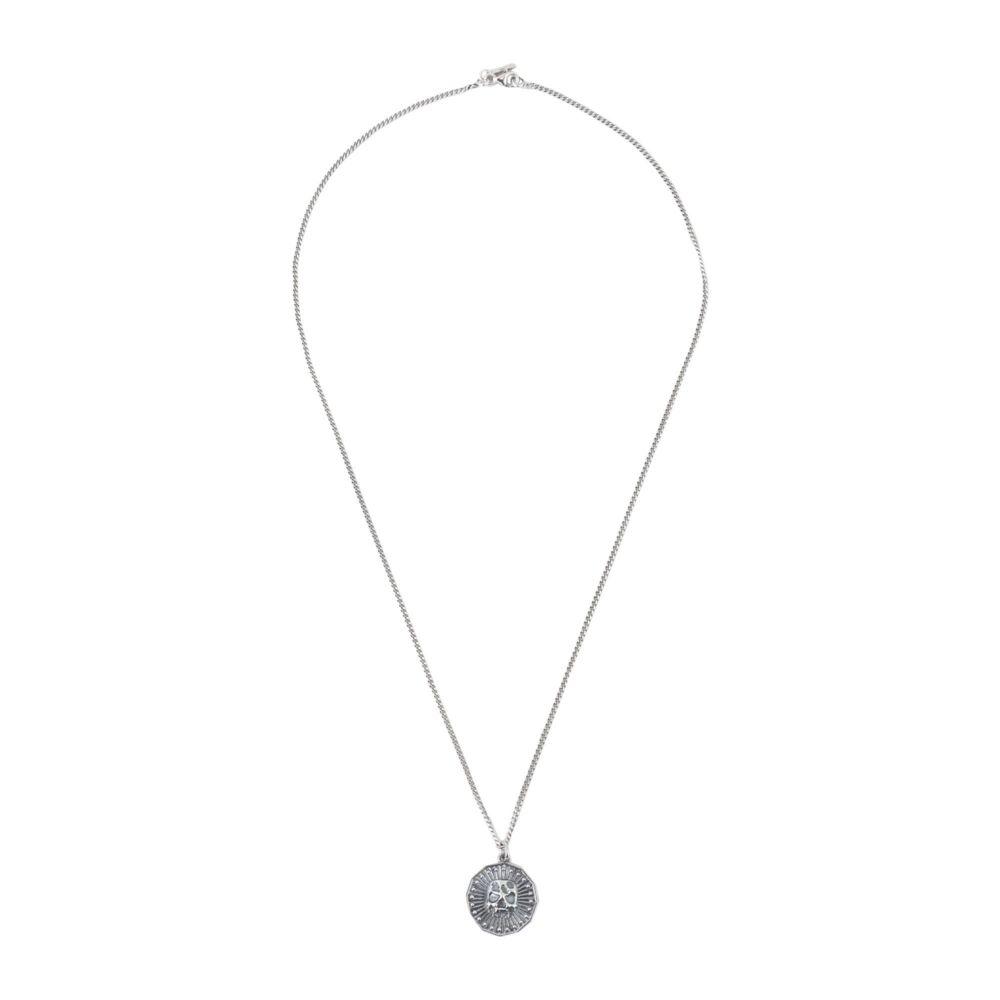 エマニュエレ ビコッキ EMANUELE BICOCCHI メンズ ネックレス ジュエリー・アクセサリー【coin silver 925 necklace】Silver