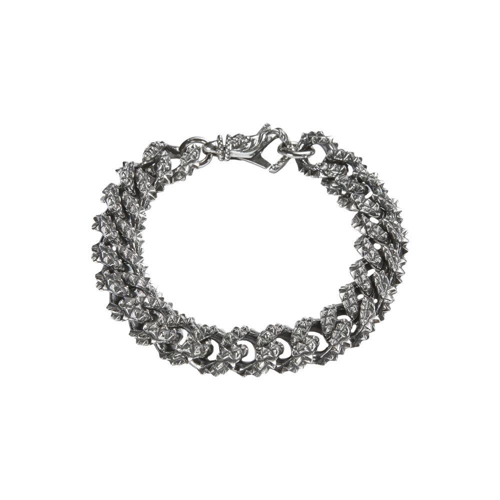 エマニュエレ ビコッキ EMANUELE BICOCCHI メンズ ブレスレット ジュエリー・アクセサリー【chain bracelet】Silver