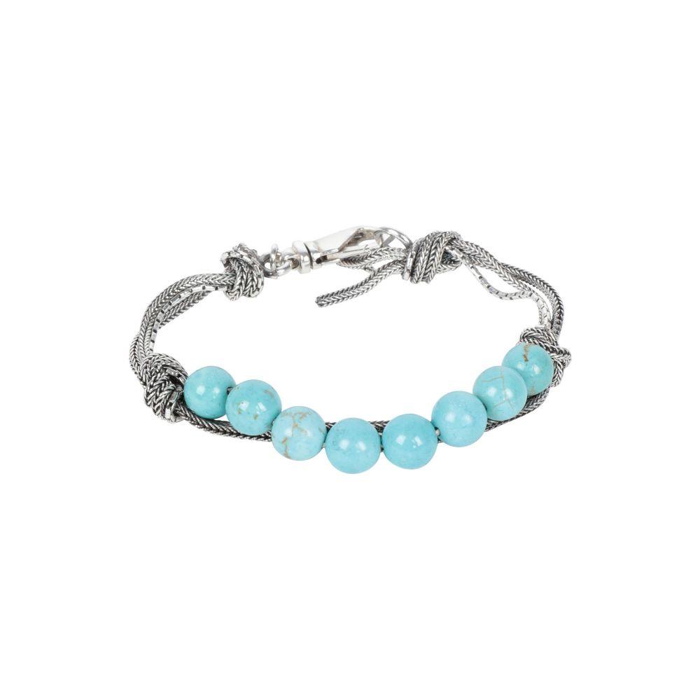 エマニュエレ ビコッキ EMANUELE BICOCCHI メンズ ブレスレット ジュエリー・アクセサリー【bracelet】Turquoise