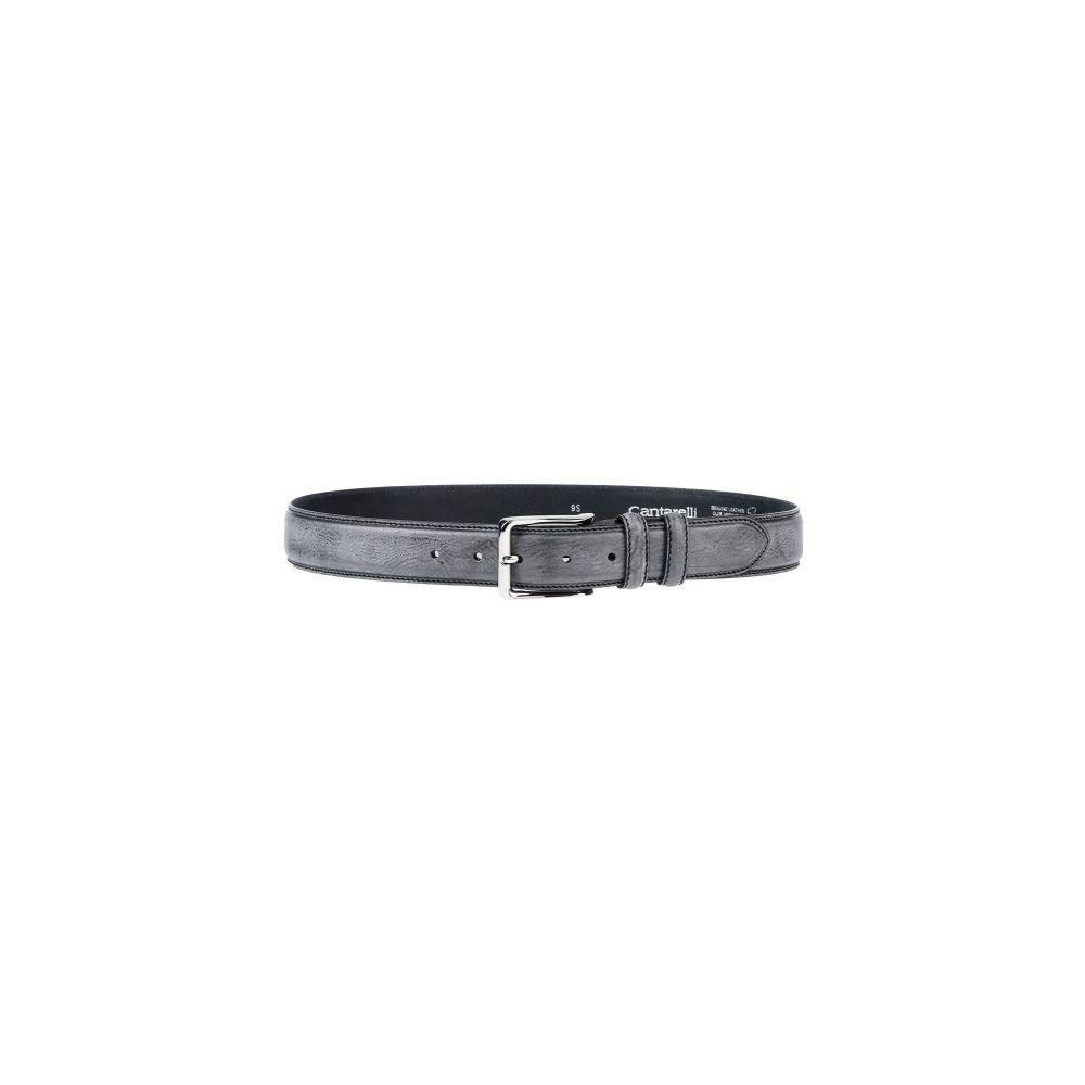 カンタレリ CANTARELLI メンズ ベルト 【leather belt】Grey
