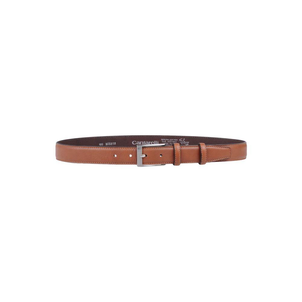 カンタレリ CANTARELLI メンズ ベルト 【leather belt】Brown