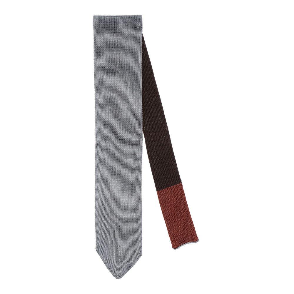 ボリオリ メンズ ファッション小物 ネクタイ Grey 【サイズ交換無料】 ボリオリ BOGLIOLI メンズ ネクタイ 【tie】Grey