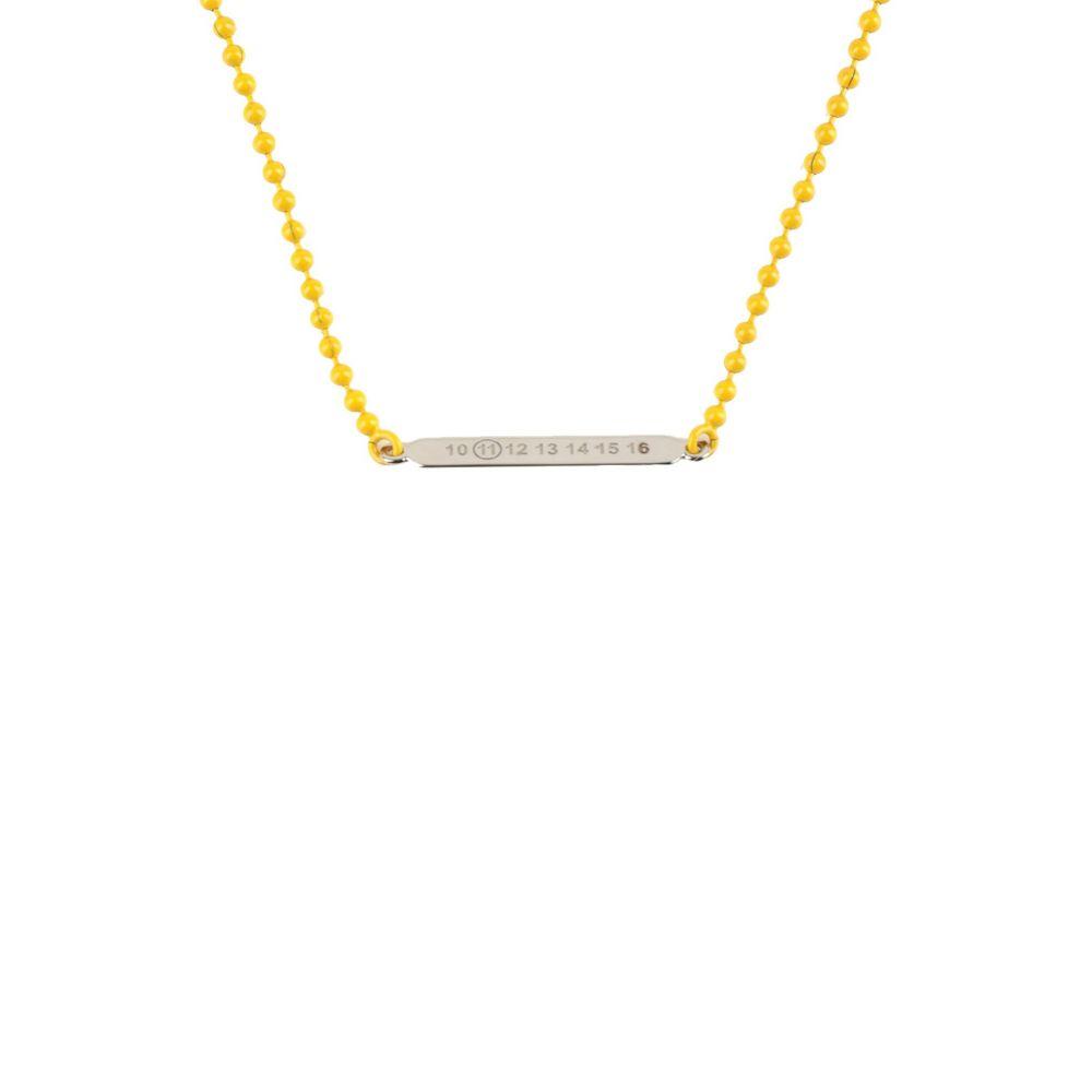 メゾン マルジェラ MAISON MARGIELA メンズ ネックレス ジュエリー・アクセサリー【necklace】Yellow