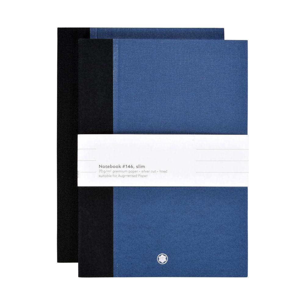 モンブラン MONTBLANC メンズ 雑貨 【2 notebooks #146 slim for augmented paper planners & notebooks】Blue