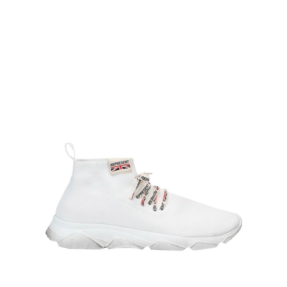 リプレゼント REPRESENT メンズ スニーカー シューズ・靴【racer sneaker sneakers】White