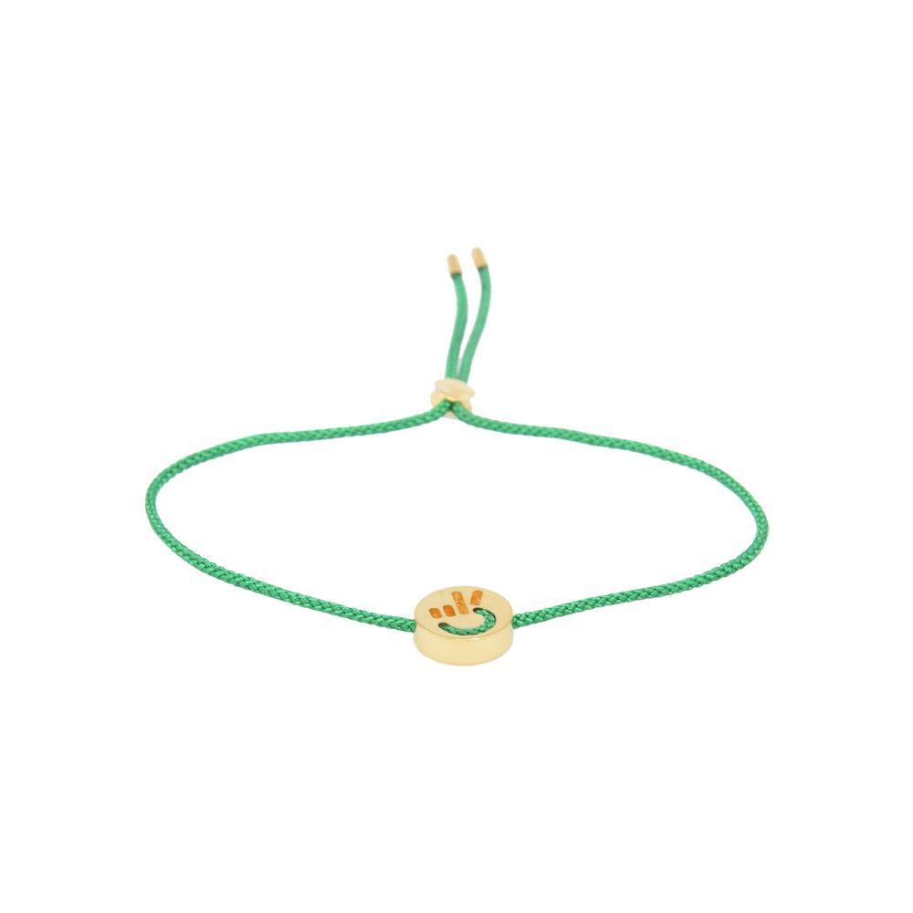 ルイフフェラ RUIFIER メンズ ブレスレット ジュエリー・アクセサリー【friends hands up peace bracelet_green bracelet】Green