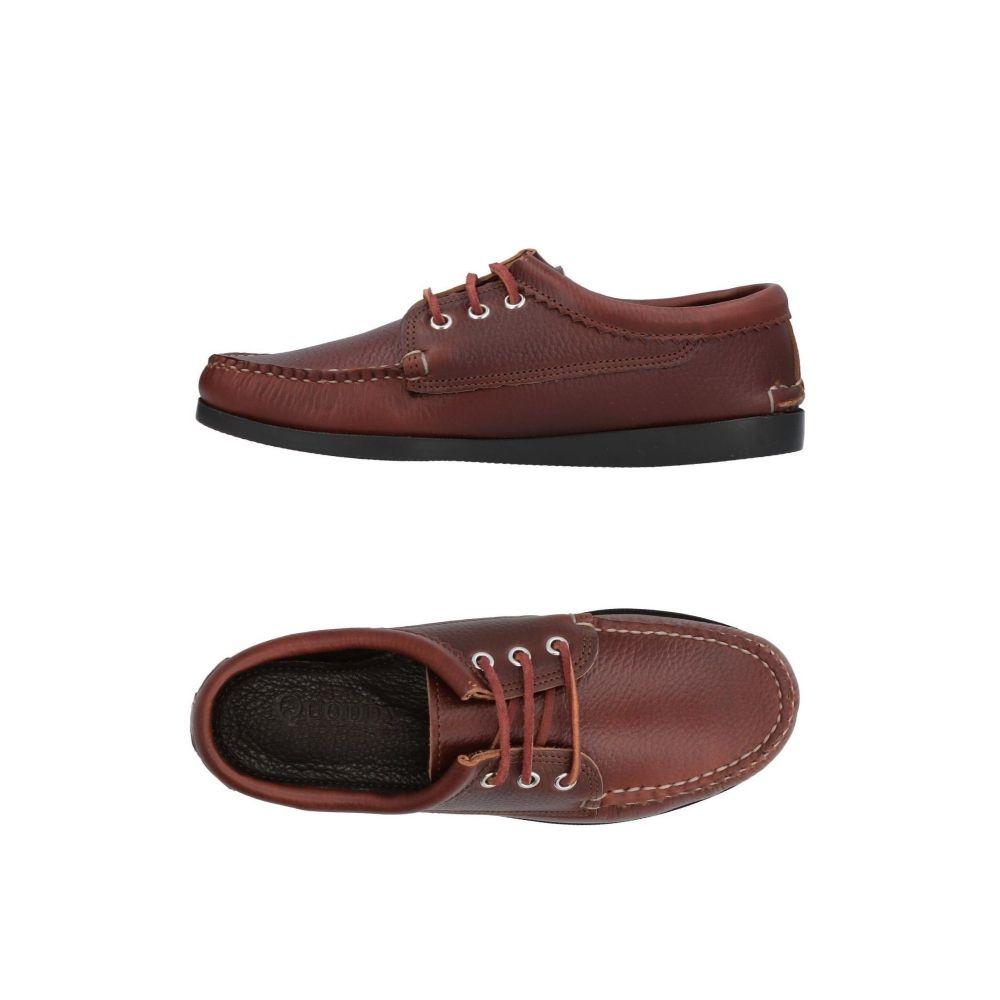 クオディ QUODDY メンズ シューズ・靴 【laced shoes】Maroon