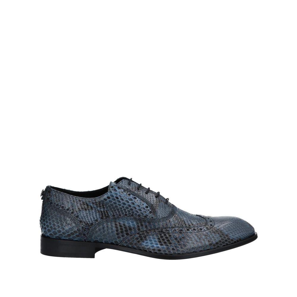 ロベルト カヴァリ ROBERTO CAVALLI メンズ シューズ・靴 【laced shoes】Slate blue