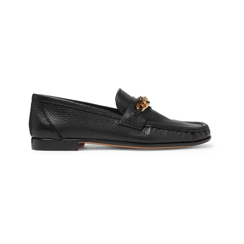 ヴェルサーチ メンズ シューズ・靴 ローファー Black 【サイズ交換無料】 ヴェルサーチ VERSACE メンズ ローファー シューズ・靴【loafers】Black