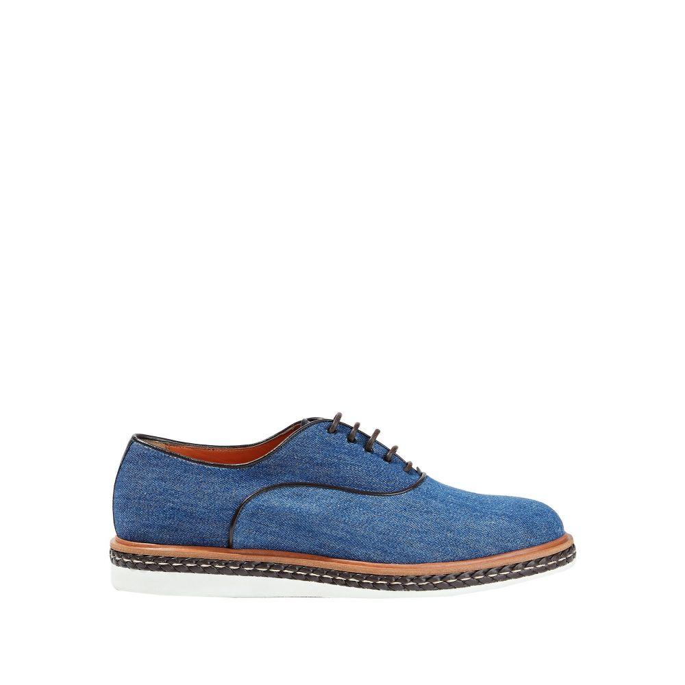 サントーニ SANTONI メンズ シューズ・靴 【laced shoes】Blue