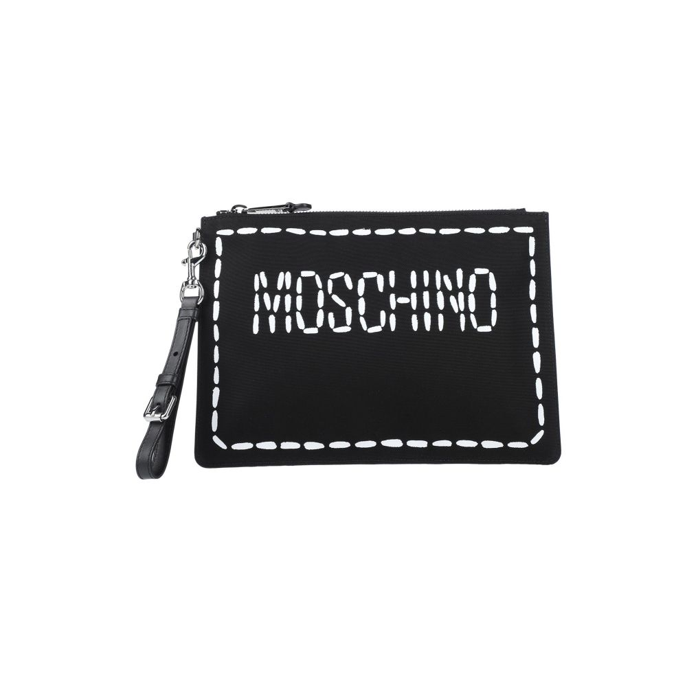 モスキーノ MOSCHINO メンズ ハンドバッグ バッグ【handbag】Black