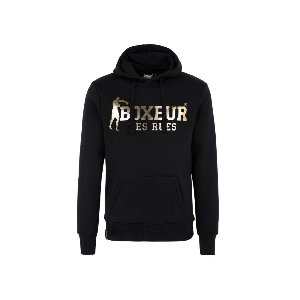 ボクサー デ ルー BOXEUR DES RUES メンズ パーカー トップス【hooded sweatshirt with front big logo】Black
