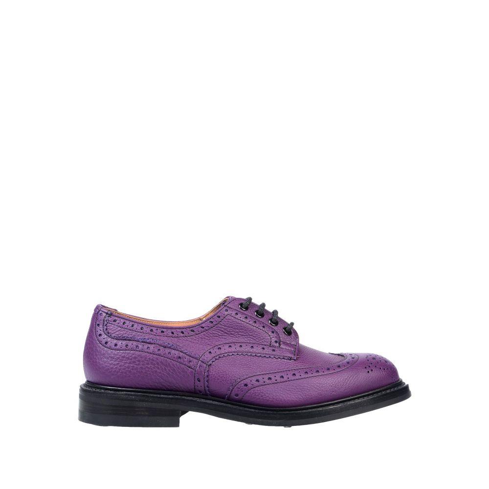トリッカーズ TRICKER'S メンズ シューズ・靴 【laced shoes】Purple