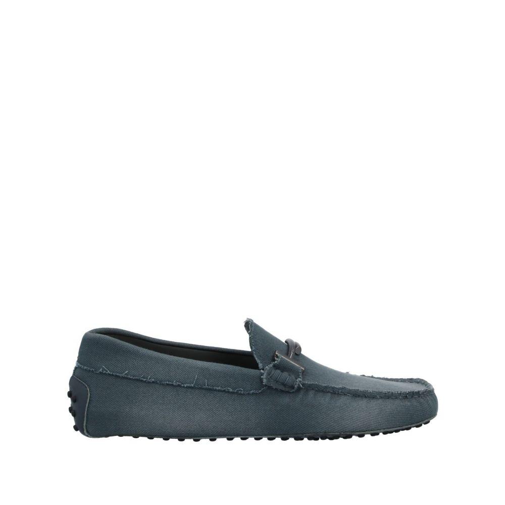 トッズ メンズ シューズ・靴 ローファー Slate blue 【サイズ交換無料】 トッズ TOD'S メンズ ローファー シューズ・靴【loafers】Slate blue