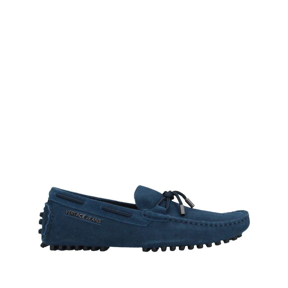 ヴェルサーチ メンズ シューズ・靴 ローファー Blue 【サイズ交換無料】 ヴェルサーチ VERSACE JEANS メンズ ローファー シューズ・靴【loafers】Blue