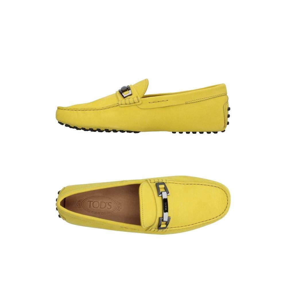 トッズ メンズ シューズ 靴 ローファー サイズ交換無料 TOD'S 2020秋冬新作 Yellow loafers 保証