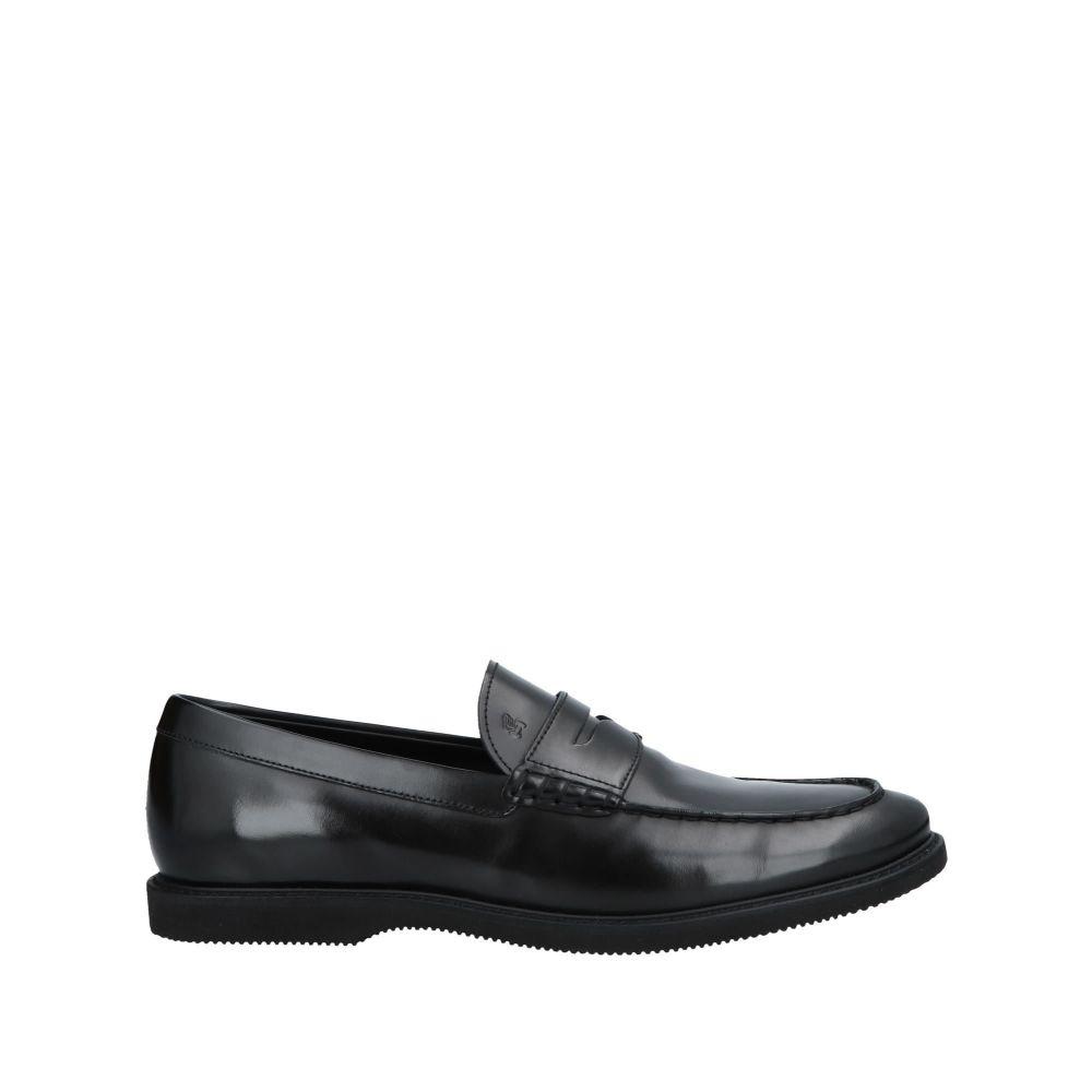 ホーガン メンズ シューズ・靴 ローファー Black 【サイズ交換無料】 ホーガン HOGAN メンズ ローファー シューズ・靴【loafers】Black