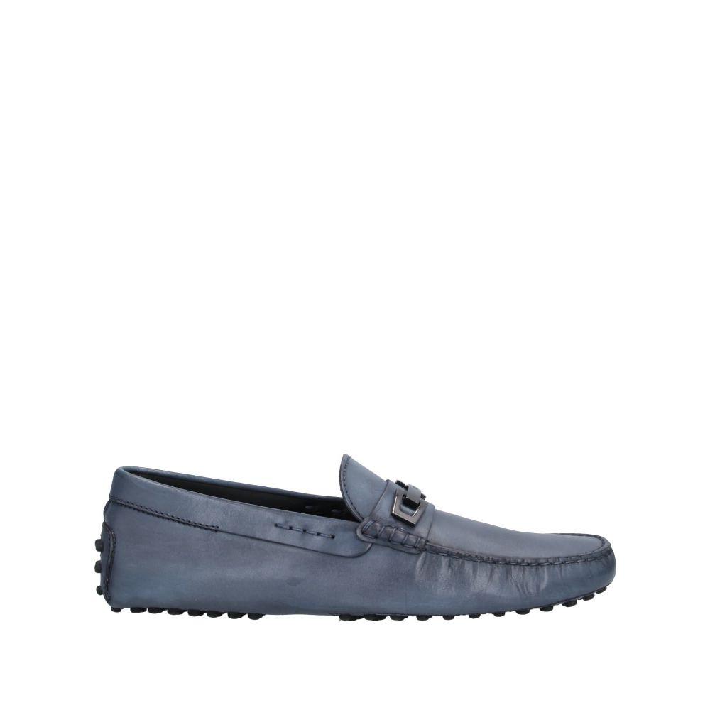トッズ メンズ シューズ 靴 ローファー サイズ交換無料 70%OFFアウトレット Slate loafers blue TOD'S 贈り物