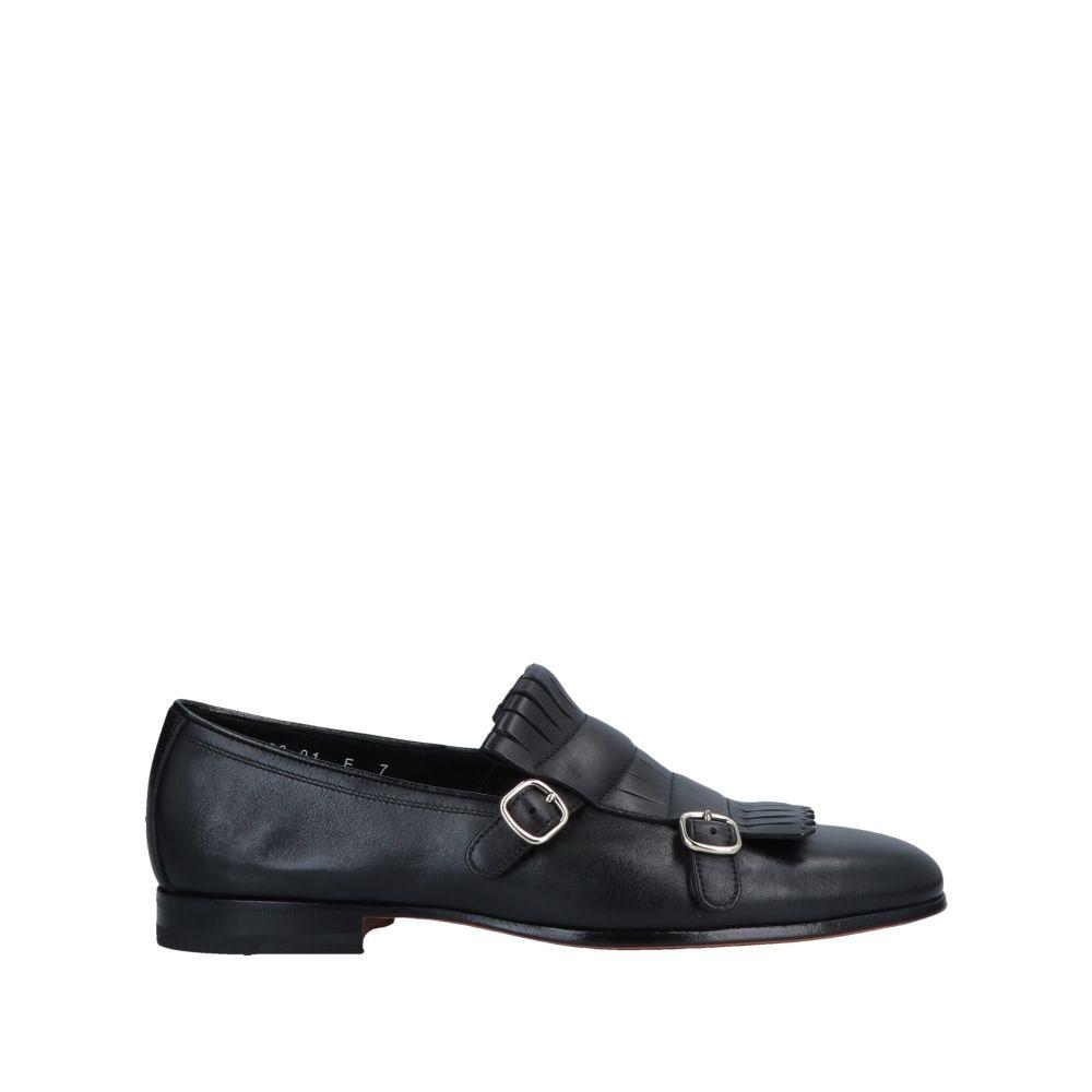 サントーニ メンズ シューズ・靴 ローファー Black 【サイズ交換無料】 サントーニ SANTONI メンズ ローファー シューズ・靴【loafers】Black