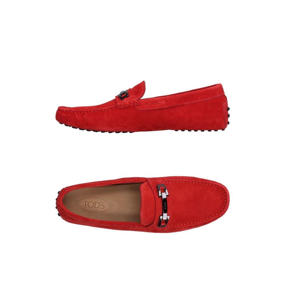 トッズ 人気ショップが最安値挑戦 メンズ シューズ 靴 ローファー 入手困難 loafers TOD'S Red サイズ交換無料