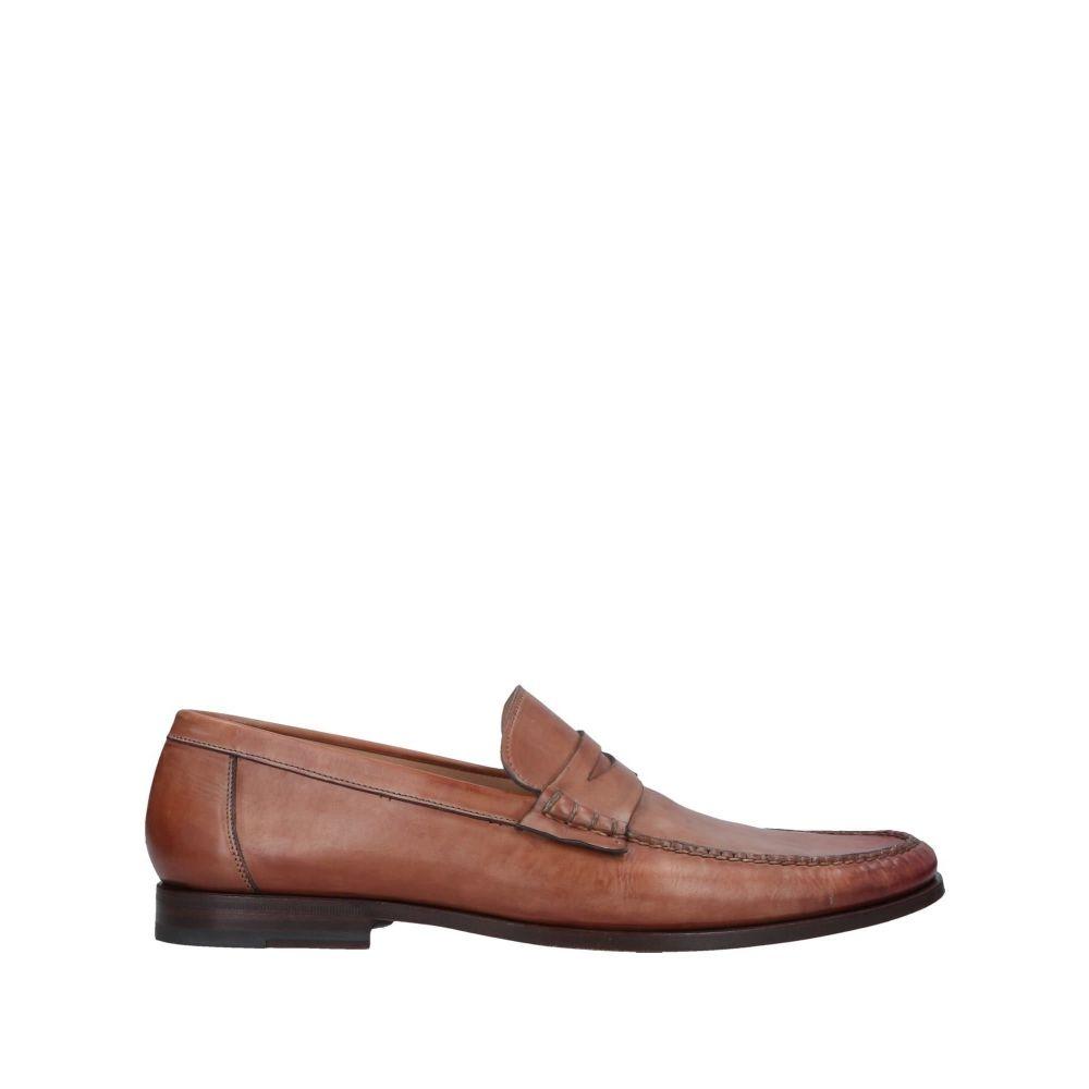サントーニ メンズ シューズ・靴 ローファー Dark brown 【サイズ交換無料】 サントーニ SANTONI メンズ ローファー シューズ・靴【loafers】Dark brown