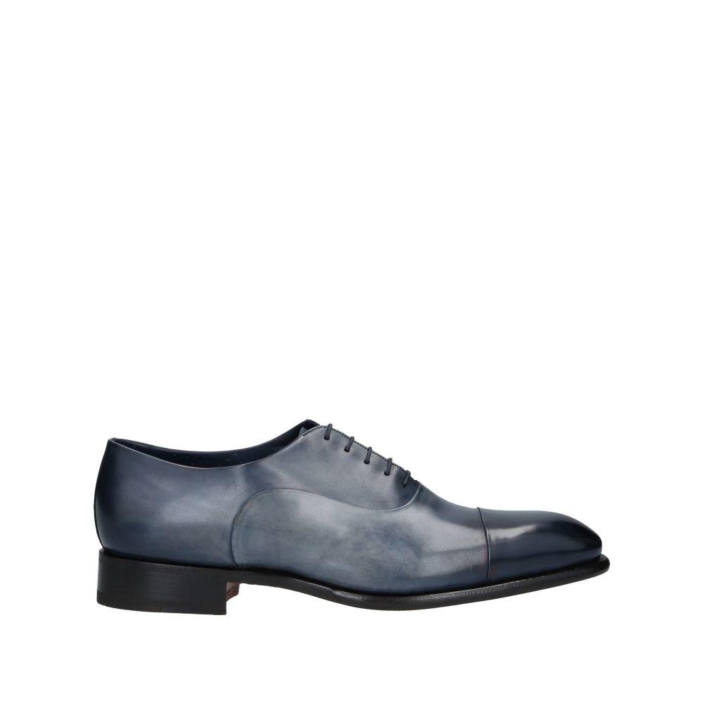 サントーニ SANTONI メンズ シューズ・靴 【laced shoes】Dark blue