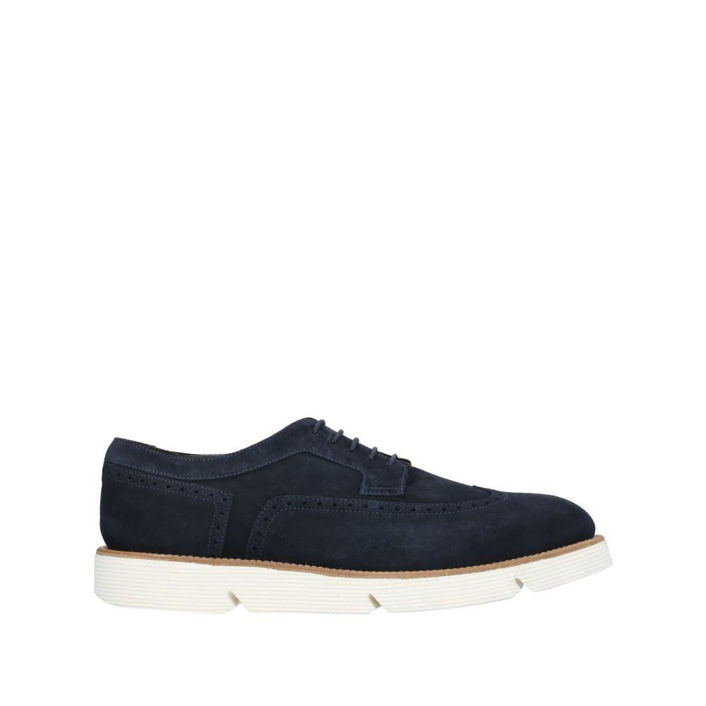 アルベルト ガルディアーニ ALBERTO GUARDIANI メンズ シューズ・靴 【laced shoes】Dark blue