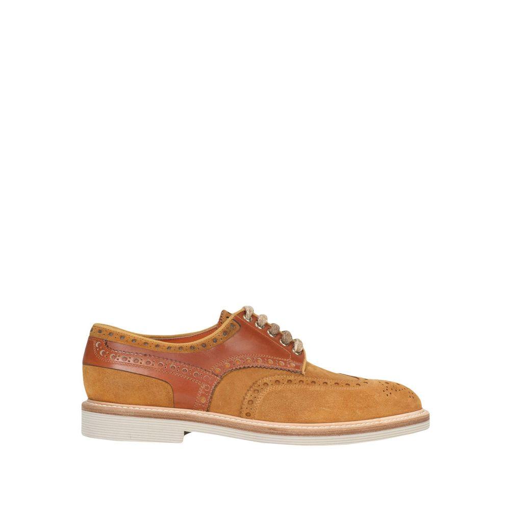 サントーニ SANTONI メンズ シューズ・靴 【laced shoes】Tan