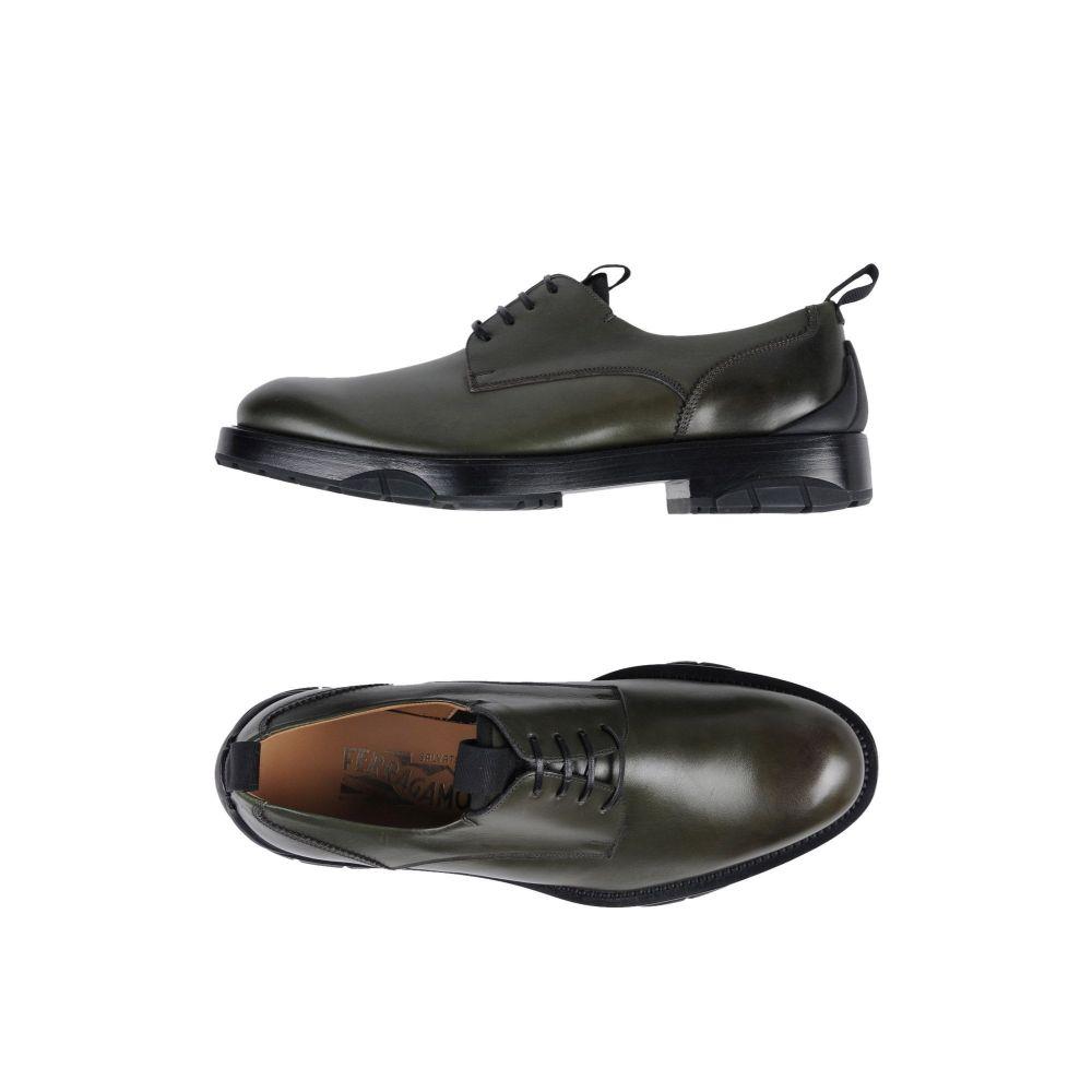 サルヴァトーレ フェラガモ SALVATORE FERRAGAMO メンズ シューズ・靴 【laced shoes】Military green