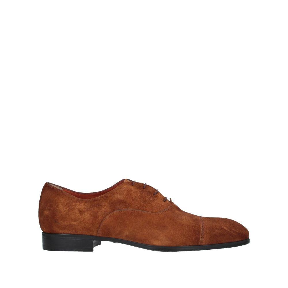 サントーニ SANTONI メンズ シューズ・靴 【laced shoes】Camel