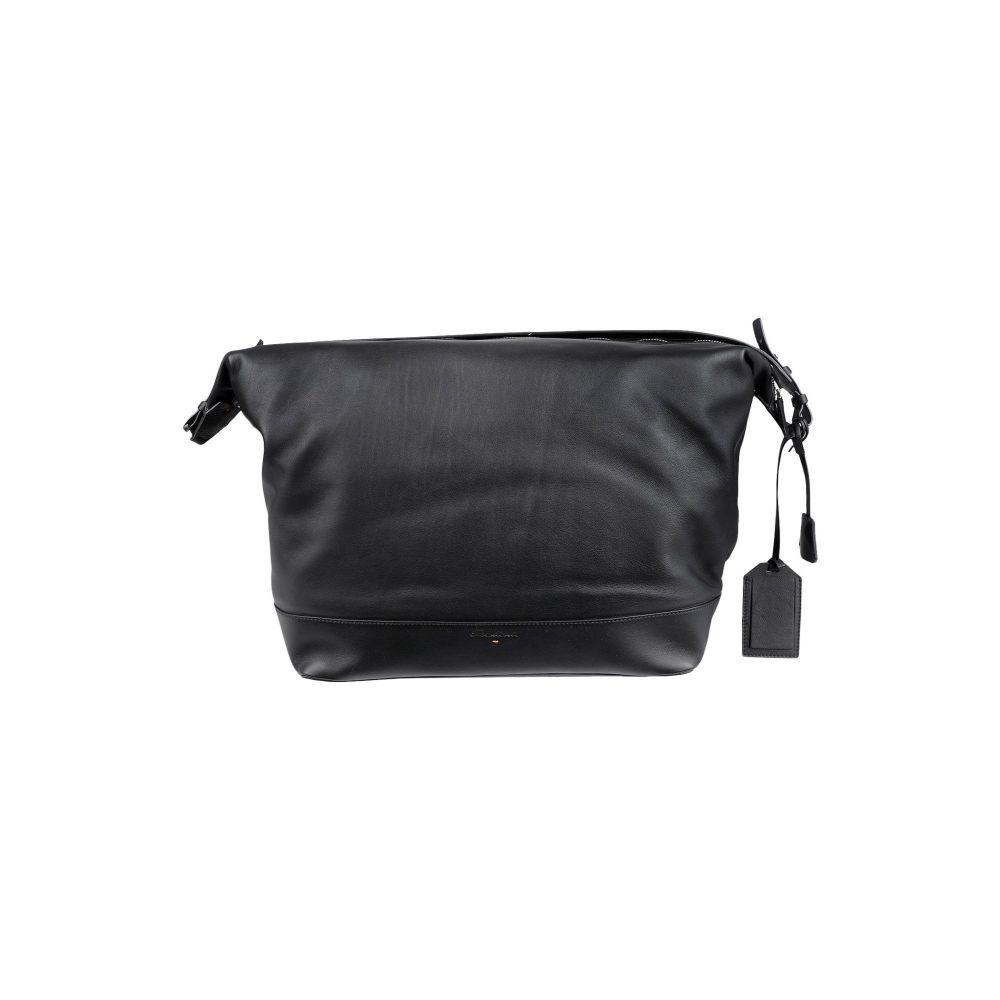 サントーニ SANTONI メンズ ボストンバッグ・ダッフルバッグ バッグ【travel & duffel bag】Black