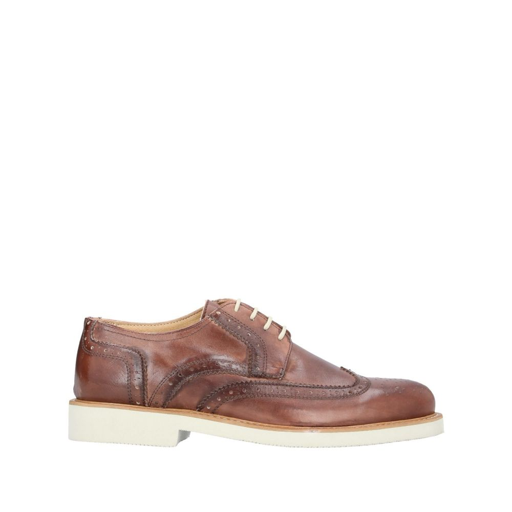 パウロダポンテ PAOLO DA PONTE メンズ シューズ・靴 【laced shoes】Brown