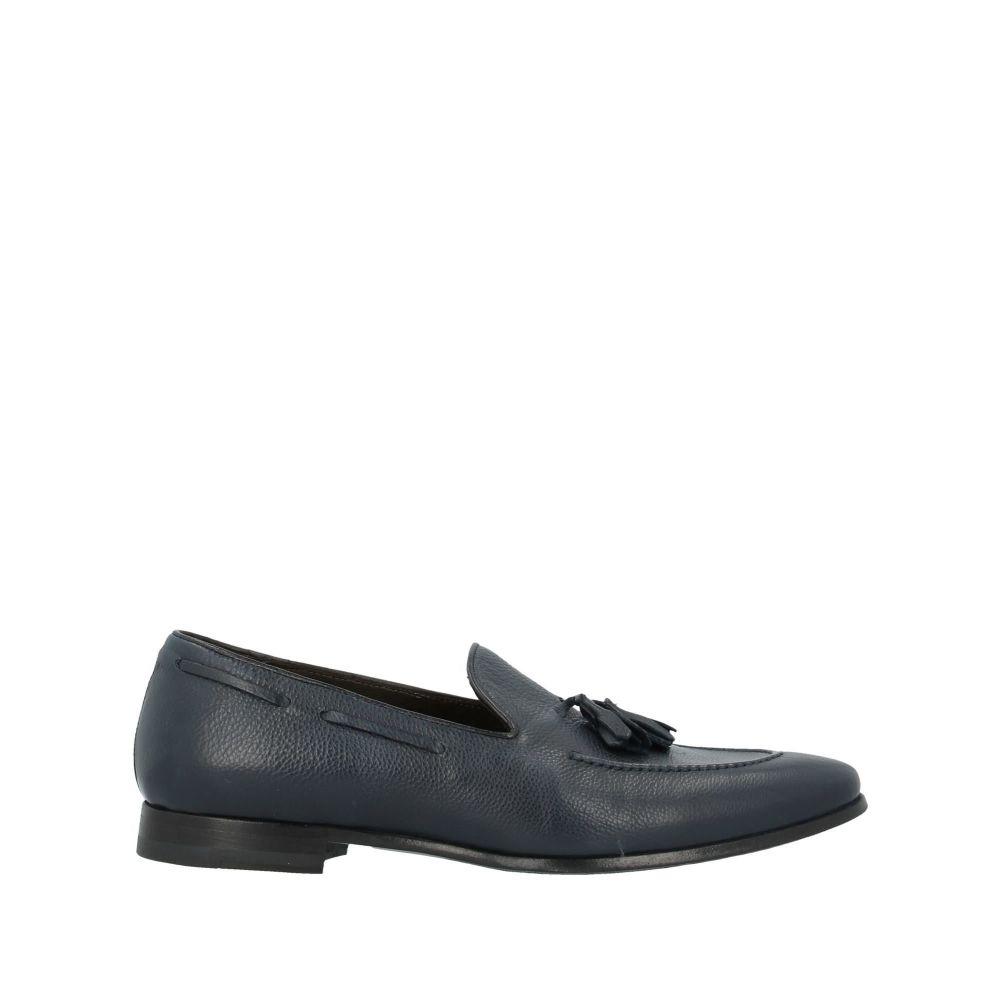 J.J. メンズ シューズ・靴 ローファー Dark blue 【サイズ交換無料】 J.J. メンズ ローファー シューズ・靴【loafers】Dark blue