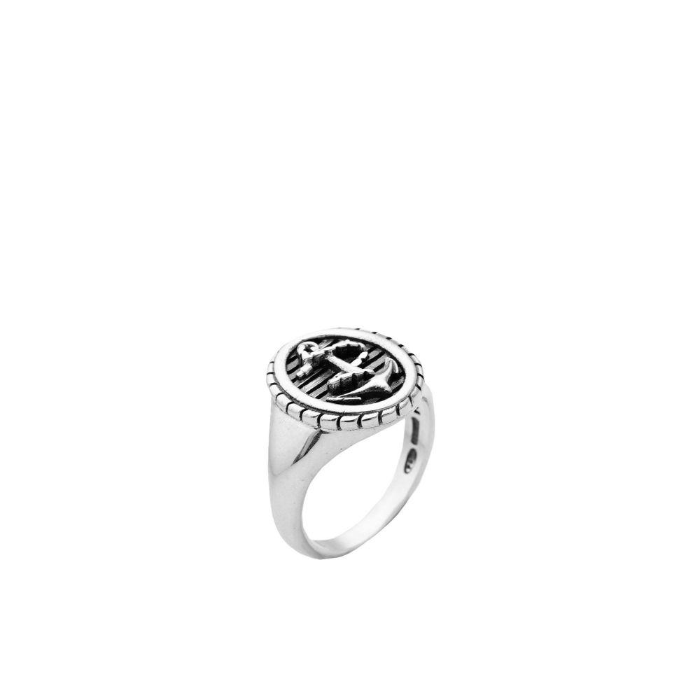 ノーヴェ ヴェンティ チンクエ 44160 メンズ 指輪・リング ジュエリー・アクセサリー【rope & anchor oval signet ring ring】Silver