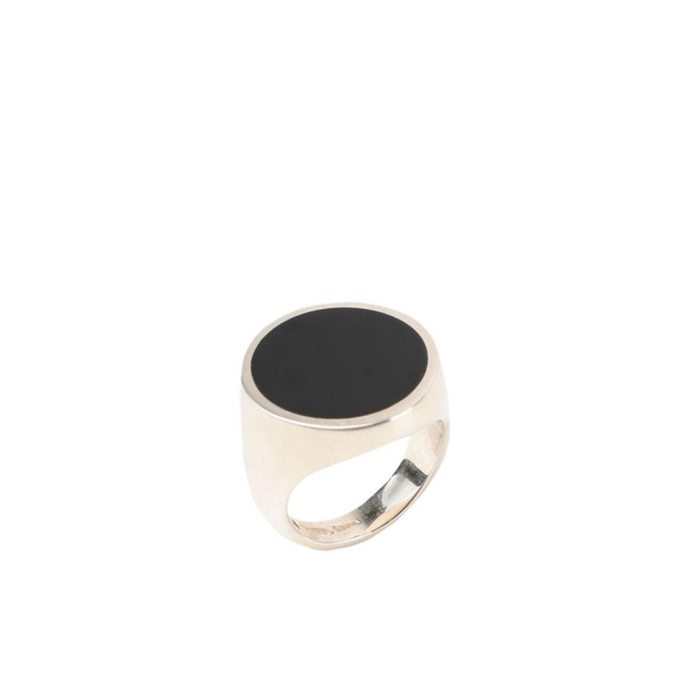 ノーヴェ ヴェンティ チンクエ 44160 メンズ 指輪・リング ジュエリー・アクセサリー【round black enamel signet ring】Black